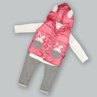 Дитячий костюм трійка Зайка маліновий