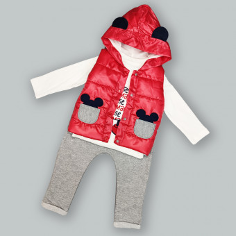 Детский костюм тройка Мышонок красный