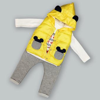 Детский костюм тройка Мышонок желтый