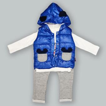 Детский костюм тройка Мышонок синий