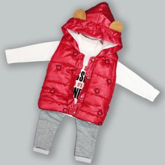 """Детский костюм тройка """"Мишка"""" красный"""