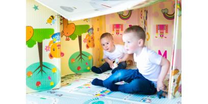 Як зібрати дитячий килимок?