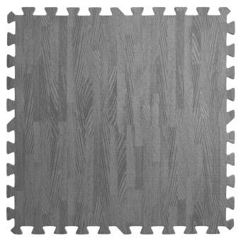 Підлога пазл - модульне підлогове покриття темно-сіре дерево