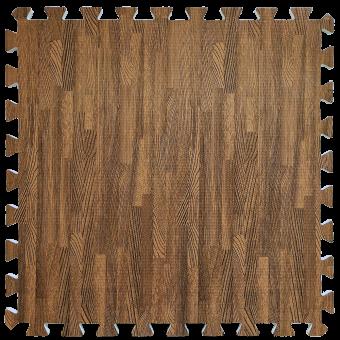 Пол пазл - модульне підлогове покриття червоне дерево