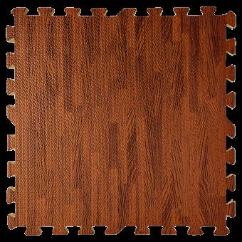 Підлога пазл - модульне підлогове покриття темне дерево