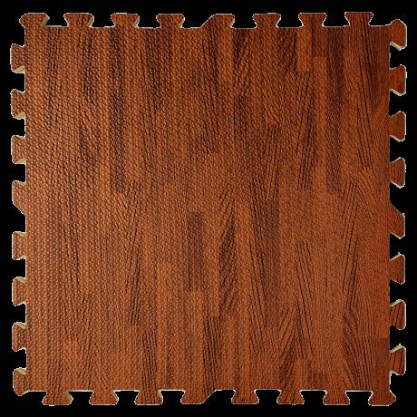 Пол пазл - модульное напольное покрытие темное дерево