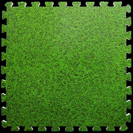 Пол пазл - модульное напольное покрытие зеленая трава (МР4)