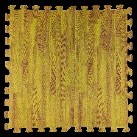 Підлога пазл - модульне підлогове покриття жовте дерево