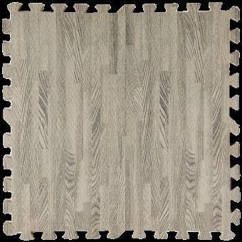 Підлога пазл - модульне підлогове покриття сіре дерево