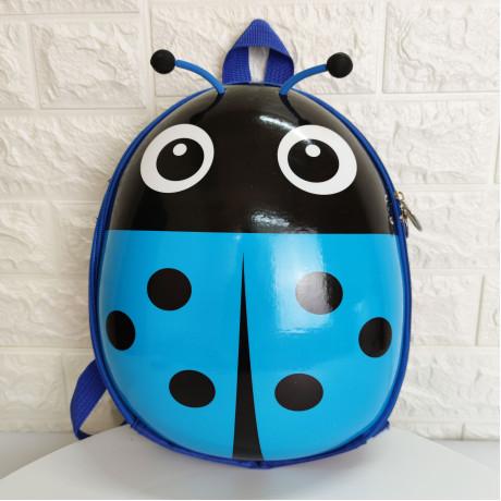 Рюкзак детский Божья коровка голубая